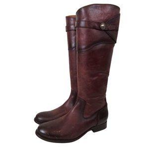 Frye Melissa Bordeaux Leather Burgundy Boots